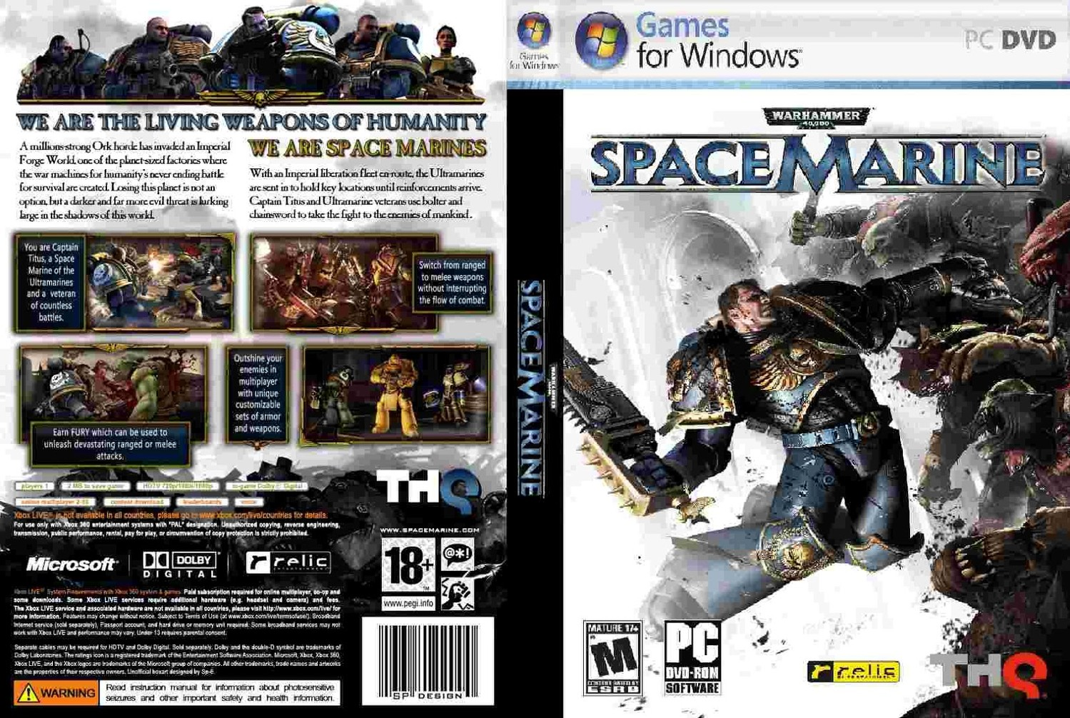 Warhammer 40,000: Space Marine - Collection Edition [v 1.0.165.0 + DLC] (2012) PC | RePack от FitGirl